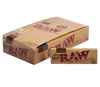 Raw Unrefined Classic  1 1/4 Size Cigarette Rolling Papers Standard Full Box
