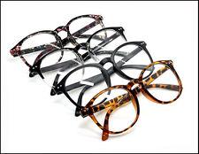 Round Vintage Nerd Clear Lenses Glasses Optical Frames / Fancy Dress Spectacles