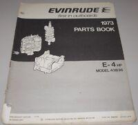 Parts Book Evinrude E-4 HP Model 43B36 Ersatzteilkatalog November 1972!