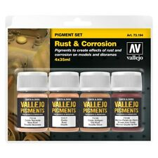 "Acrylicos Vallejo ""rust & Corrosion"" Pigments Set - Rust Corrosion Av Val73194"