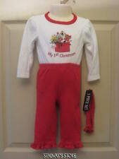 Girls First Christmas 3 Piece Outfit Set Bodysuit Pants Heaband 6-9 Months NWT