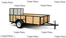 #1 TRAILER PLANS 6x12 Single Axle Trailer Plans With 2' Sides And 4' Ramp Gate