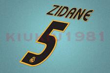Real Madrid Zidane #5 2003-2005 Homekit Nameset Printing