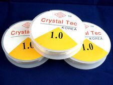 2 x 8mtr R0LLS CLEAR 1.0mm NYLON BEADING ELASTIC CORD ~JEWELLERY~ BRACELET(DR)UK