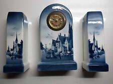 RARE Superbe Horloge en faïence TBE