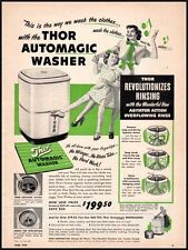 THOR AUTOMAGIC WASHER Vintage Ad Woman's Day 1949 (100311)