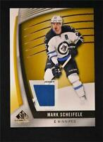 2017-18 17-18 UD Upper Deck SP Game Used Gold Jersey Relics #73 Mark Scheifele