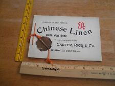 Chinese Linen Bond paper company 1940s Boston Denver catalog of examples