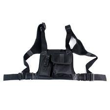 New Chest Pocket Pack BackpackHandset Radio Accessory Holder Bag for 2-Way Radio