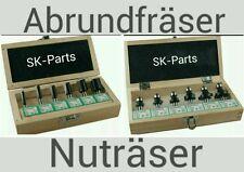 Edessö HW Nutfräsersatz 6-tlg mit Grundschneide + Abrundfräsersatz 6-tlg. SKMIX
