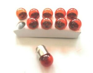 Vespa 10X Birne Ba15s 12V 10W Blinker Orange Gelb PK S XL 2 Special Roller NEU