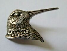 Stunning Vintage Solid Silver Bird Head Brooch
