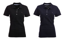 Tommy Hilfiger Damen Poloshirt Polo Shirt classic  black - navy  Size XS-XXL