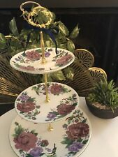 WEDDING  CAKE STAND 3 Tier Serving Tray Baroque Rose Bridal Party Gift