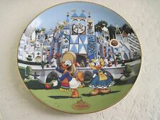 Disneyland's 40th Anniversary Collection IT'S A SMALL WORLD Disney Plate 3th