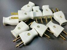 10x AC Plugs 15A 120V 2 Prong Residential Grade Plug Same as Leviton