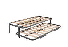 Cama Nido con 2 somieres estructura reforzada doble barra superior + patas.