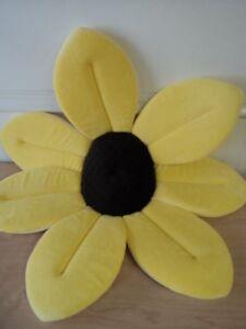 Blooming Bath Baby Plush Lotus Flower Yellow Bath Cushion Gently Used