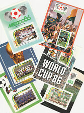 St Vincent (227) 1986 COUPE DU MONDE DE FOOTBALL KIT COMPLET DE 6 M / feuilles