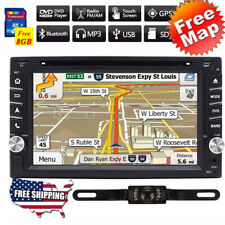 For Universal Car CD DVD 2 DIN Stereo GPS System Radio Bluetooth + Backup Camera