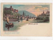 Heidelberg 1901 Chromo Litho Postcard Germany 992a