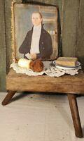 VICTORIAN PRIMITIVE VINTAGE FOLK ART SHAKER 1801 STYLE MAN MILITARY PORTRAIT