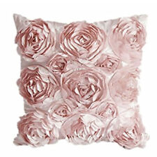 40*40cm Rose Throw Pillow Cover Cushion Case Color Pink