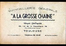 """TOULOUSE (31) QUINCAILLERIE """"Roger PELLEGRIN"""" Carte Postale d'Entreprise en 1958"""