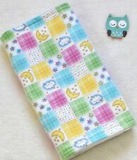 Handcrafted Flannel Stars, Clouds, Moons, & White Minky Bubble, Baby Burp Cloth