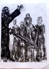 Marc Chagall offset lithograph Bible  paris maeght 1960 original  2 sided 147