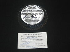 AARON HAWK PRYOR BOXING HOF SIGNED AUTOGRAPHED CRYSTAL PAPERWEIGHT #33/50 RARE!!