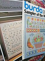 CS253, 2 assorted Samplers, cross stitch charts, YOUR CHOICE, NEW, OOP,