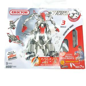 Erector Meccano 859901 Speed Play 3 Models with Interactive Robot New in Box