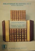 1990 Catálogo De Venta Demuestra Drouot Biblioteca de La Castillo
