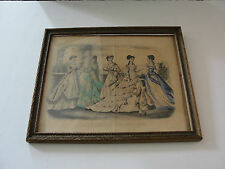 GODEY'S FASHIONS FOR JULY 1868-KIMMEL & FORSTER, NEW YORK-Original Lithograph !