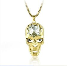 CTHULHU CRYSTAL SKULL GOLD PLATED MOVABLE JAW LOVECRAFT MYTH DAGON COSMIC CULT