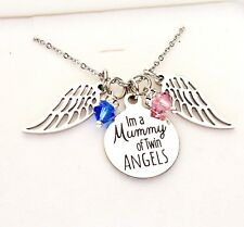 Mummy of twin angels Necklace baby loss miscarriage stillborn stillbirth infant
