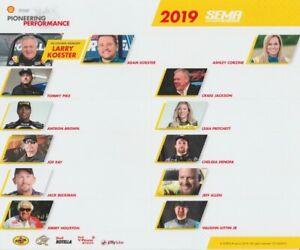 2019 Leah Pritchett + Antron Brown + Matt Hagan Shell SEMA postcard