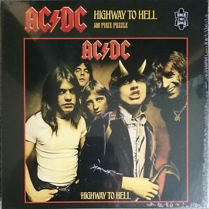 AC/DC HIGHWAY TO HELL 500 PIECE JIGSAW PUZZLE ROCK SAWS NEW