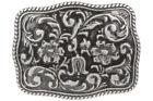 Western Flower Engraved Belt Buckle