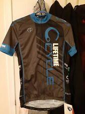 PEARL IZUMI Elite Custom Lifetime Cycling Jersey Womens M Race Cut Blue Gray