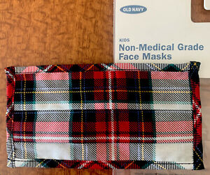 Old Navy Kids Unisex Christmas Plaid Face Mask