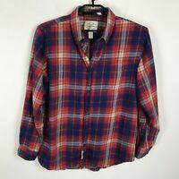 St Johns Bay Classic Fit Flannel Shirt Mens Size L Cotton Multicolor Long Sleeve