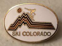 Ski Colorado Travel Souvenir Lapel Hat Pin Pinback ~ CO ~ Skiing Resort