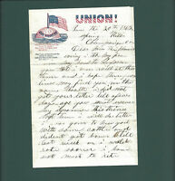 Civil War Patriotic Lettersheet dated June 20, 1862. Letter not war related.