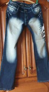 Damenjeans  Gr.34 Blue Queen