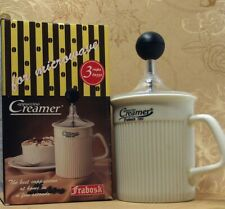 VTG Frabosk Cappuccino Creamer Made in Italy Manual Milk Frother Ceramic Mug