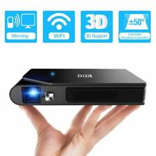 Mini WiFi DLP 3D Projector Home Theater Movie Camping Office Airplay Miracast US