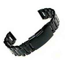 Cinturino 20mm acciaio inox polso NERO per Samsung Galaxy Gear S2 Classic 20XS