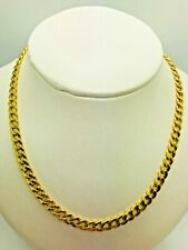 14ct (585) Yellow Gold Hollow Curb Chain - 20""